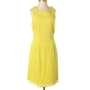 Old Navy Yellow Lace Casual Dress